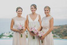 A Beautiful Backless Wedding Dress by Charlie Brear For a Mediterranean Celebration