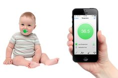 Smart pacifier monitors baby's health and location