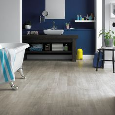 Grano from our Opus wood collection gives you a really contemporary, clean gray wash timber look, providing a modern and versatile backdrop to any room design. Couple with a splash of colour for a vibrant space, or cool monotone stylings for a more understated modernist space. Grey Wash, Stone Flooring, Beautiful Bathrooms, Bedroom Inspiration, Contemporary, Modern, Your Space, Plank, Color Splash