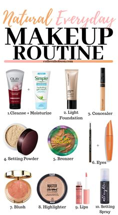 Everyday Makeup Routine Simple natural-looking makeup routine for everyday wear.You can find Simple makeup loo.Natural Everyday Makeup Routine Simple natural-looking makeup routine for everyday wear.You can find Simple makeup loo. Everyday Makeup Tutorials, Makeup Tips For Beginners, Beginner Makeup Kit, Makeup Tips And Tutorials, Beauty Tutorials, Beginner Makeup Tutorial, Simple Makeup Tutorial, Basic Makeup Kit, Makeup Basics