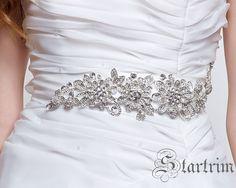 MARIAINA SWAROVSKI wedding bridal crystal sash , belt