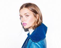 #josephineskriver #makeup #victoriassecretmodels  by #intothegloss #josephineskriver #victoriassecretmodels #neonpinklipstick #mattefuschia #MUFElipliner #MUFE in color 16C fuschia and #CKONElipstick in color Wow