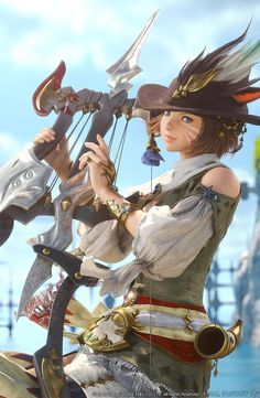 Miqo'te Bard from Final Fantasy XIV: A Realm Reborn