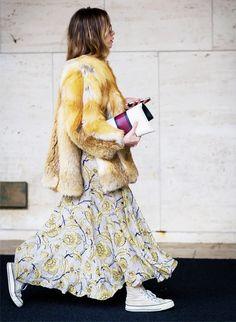 Тренд: длинное платье 1