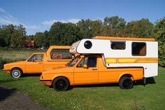 Caddy Shack Vw Caddy Mk1, Volkswagen Caddy, Volkswagen Golf, Camper Tops, Mini Camper, Truck Camper, Vw Rabbit Pickup, Vw Pickup, Homemade Camper