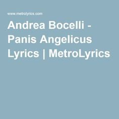 56 best gregorian chant and hymns images on pinterest catholic andrea bocelli panis angelicus lyrics metrolyrics fandeluxe Images