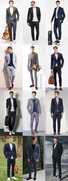 Men's Dressed Down Suits - Casual Friday Outfit Inspiration Lookbook