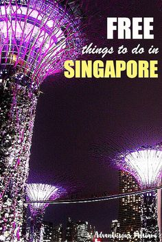 Many people moan that Singapore is boring and there's nothing to do. Ignore them. I just went there and the list of things to do in Singapore is absorbingly long. Here are some ideas for free activities in Singapore.
