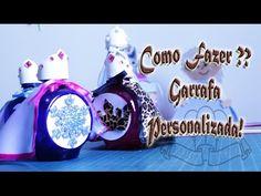 Como Personalizar Garrafa de Água Príncipes e Princesas - YouTube