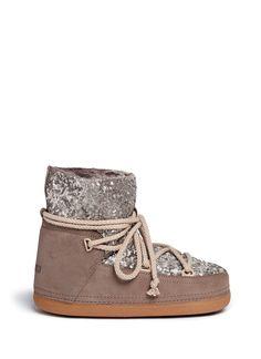 INUIKII Sequin sheepskin shearling boots. #inuikii #shoes #boots