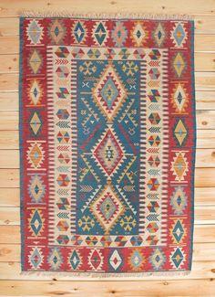 Turkish Kilim Wool Rug 4.92 x 7.15 ft Ottoman Kilim Area Rug Bohemian Kilim Geometric Rug Kilim Ottoman Home Decor Boho Rug Children Room by Rugsnrunners on Etsy