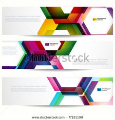 stock vector : Abstract banner with forms of empty frames for your web design.