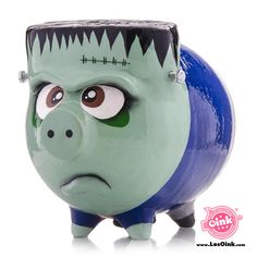 Piggy Banks, Minions, Halloween, Pigs, Fictional Characters, Ideas, Little Pigs, Piglets, Mason Jars