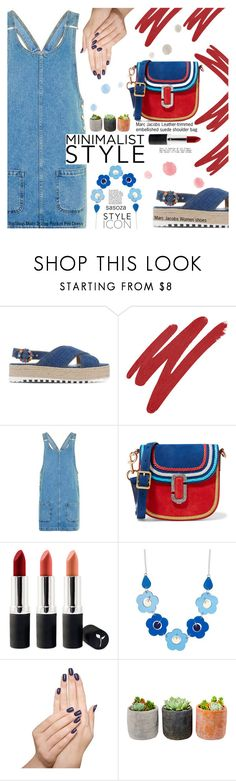 """""""saturday outfit by Sasoza"""" by sasooza ❤ liked on Polyvore featuring Marc Jacobs, NARS Cosmetics, Topshop, Terre Mère and Shop Succulents"""