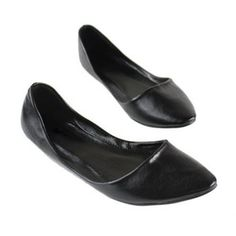 Casual Solid Color Pointed Head Design Soft Imitated Leather Women's Flat Shoes