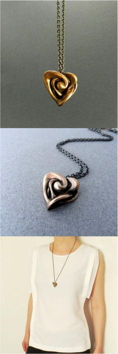 """Want want want. Simple yet interesting, this necklace, called """"Venus,"""" resembles a modern and unique heart. A fantastic statement piece for that knockout date outfit. 
