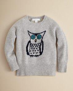 Burberry Girls Toya Owl Intarsia Sweater - Sizes 4-6
