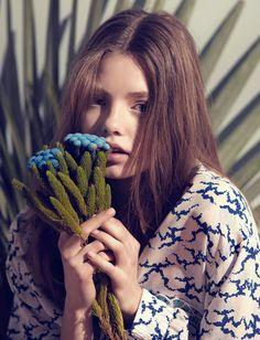 Publication: Numéro Tokyo May 2015 Model: Kristine Froseth Photographer: Karen Collins Fashion Editor: Felipe Mendes Hair: Romina Manenti Make-up: Hugo Villard