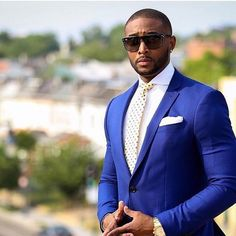 This Mr. sure looks good in blue! Photo via @evented_ | #BellaNaijaWeddings