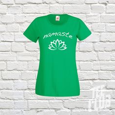 Namaste lotus Tshirt girls indian yoga Quality cotton by TeeClub