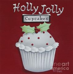 Holly Jolly Cupcakes Painting