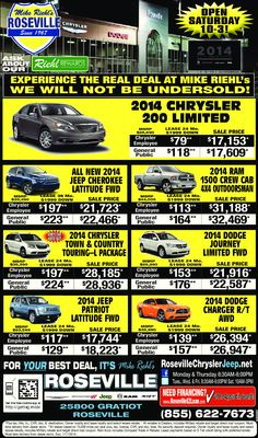 Sale ends on Saturday 1/11.  Stop in and see what is new at our dealership.  Open every Saturday 10 a.m. to 3 p.m. to serve you better!