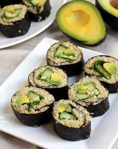 Mix it Up: Quinoa Avocado Sushi. #glutenfree