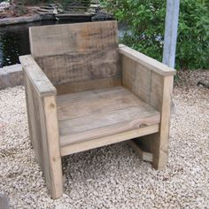 Damwandhout Stoel 'Hille' - Steigerhouten meubelen - Rustikal Meubelen Outdoor Chairs, Outdoor Furniture, Outdoor Decor, Christmas Wood Crafts, Carpentry, Diy And Crafts, Armchair, Cottage, House