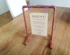 Porte menu cuivre mariage style indus industriel vintage sur-mesure #FABRIK #Perlesdémotions