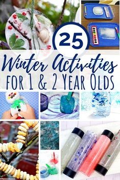 25 Winter activities for 1 year olds including sensory activities, arts and craf. - 25 Winter activities for 1 year olds including sensory activities, arts and crafts, and fine motor - Winter Activities For Toddlers, Activities For 1 Year Olds, Crafts For 2 Year Olds, Arts And Crafts For Adults, Easy Arts And Crafts, Crafts For Seniors, Winter Crafts For Kids, Crafts For Boys, Winter Fun