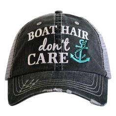 Never have tangled hair on the boat again! Keep it all in check with your new, favorite trucker cap.