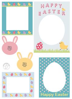 FREE EASTER SCRAPBOOK FRAMES Printable Scrapbook Frames - Happy Easter | Mr Printables