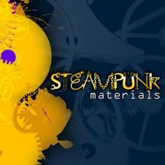 Steampunk Materials Photoshop Brushes