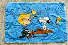 Vintage Snoopy Woodstock & Schroeder Pillow Sham Peanuts Gang NEW #JCPenney Schroeder Peanuts, Peanuts Gang, Pillow Shams, Pillows, Vintage Bedding, Snoopy And Woodstock, Zipper, History, Music