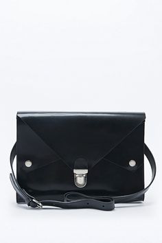 Kate Sheridan Tuck Tite Leather Bag in Black - Urban Outfitters
