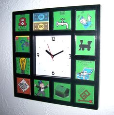 Monopoly Wall Clock Upcycle Project – thrift store crafts to sell – Thrift Store Crafts, Crafts To Sell, Diy And Crafts, Clock Art, Diy Clock, Wall Clocks, Board Game Pieces, Board Games, Game Boards