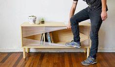 Des meubles pratiques et constitués essentiellement de fils !