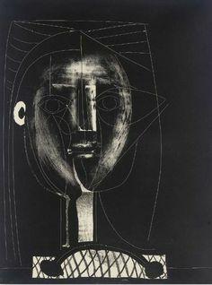 Pablo Picasso  Black Figure, 1948. Lithograph on wove paper.