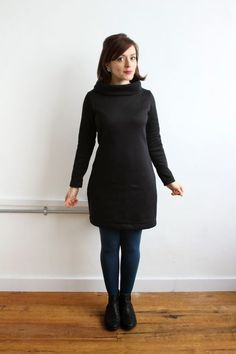Are you cold? I am. It's freezing in London! I did some emergency sewing over the holidays and now have two snuggly sweatshirt Cocos to keep me warm - one top and one dress. The fabrics, which I bough