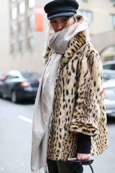 Sophie Pera #NFW all bundled up and fabulous dontcha know she's a pretty bird #Alltheprettybirds