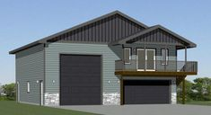 40x40 Apartment -- #40X40H1A Prefab Garage With Apartment, Garage Apartments, Garage With Living Quarters, Garage To Living Space, Garage Floor Plans, Small House Floor Plans, 2 Bedroom House Plans, Cabin House Plans, Prefab Garages