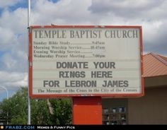 Church even hating on LeBron for lack of rings.