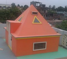 Sri Sai Pyramid Meditation Center size : 7ft x 7ft (roof top)| capacity : 8 persons cost incurred :  22,000 | type of structure : RCC open for public use technical support : D Rajeswara Rao contact : Devarakonda Rajeswara Rao address : H.no 4-1-126/A, Manikyamma nagar, Bapatla, Guntur http://www.pyramidseverywhere.org/pyramids-directory/pyramids-in-andhra-pradesh/coastal-andhra/guntur-district