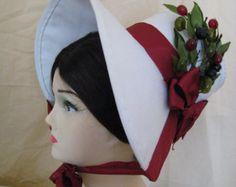 CUSTOM Regency Bonnet. Jane Austen. CUSTOM MADE to to your design. Stovepipe and Poke Bonnets