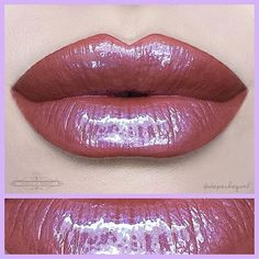 '2 Faced' Lip Hybrid by @houseofbeauty.co • Very unique shade - a terra cotta with a lavender iridescence.
