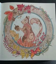 JohannaBasford EnchantedForest Colored With Barnes And Nobles Watercolor Pencils Staedtler Noris Club 144