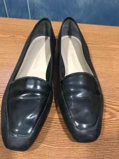 d5796cbb5e5 Angiolini Women s Lorell Soft Leather  amp  Patent Leather Black Loafer