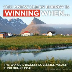 """""""Norway's giant fund removes investments made risky by climate change and other environmental concerns, including coal (and) oil sands..."""" sc.org/JUdT3"""