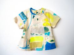 Carousel Dress modified into a top (without the cuffs) looks stunning in Nani Iro Freedom Garden