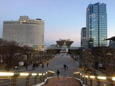 久しぶりの東京ビックサイト夕刻の雰囲気を出来るだけ引いて撮影して見た春一番が吹きまくっていたが夕方には少し収まってきた#bigsight #ariake #tokyo